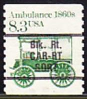 USA Precancel - BLK. RT. CAR-RT SORT - Etats-Unis