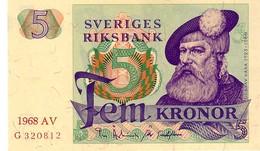 Sweden P.51  5  Kroner  1968 Unc - Sweden