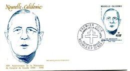 Thème Général De Gaulle - FDC Nouvelle Calédonie Yvert PA 274  - X 1127 - De Gaulle (Général)