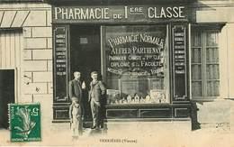 Dép 86 - Commerce - Pharmacies - Pharmacien - Verrieres - Pharmacie De 1ère Classe - Pharmacie Normale Alfred Parthenay - Autres Communes