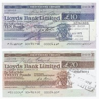 GREAT BRITAIN - LONDON - TRAVELLERS CHEQUE - 10 ET 20 POUNDS - - …-1952 : Before Elizabeth II