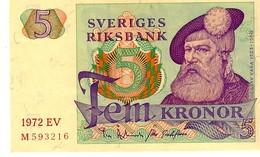 Sweden P.51  5  Kroner  1972 Unc - Svezia
