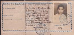 Carte D'identité Scolaire De L'Ecole Des Filles De Giadinh 1952 Indochine Indochina Cochinchine Vietnam Saigon - Documenti Storici