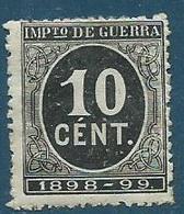 Timbre Espagne Impots De Guerre 1898 - Impuestos De Guerra