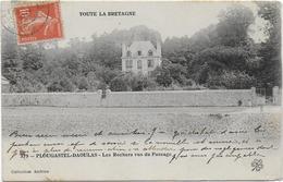 CPA - PLOUGASTEL DAOULAS - LES ROCHERS VUS DU PASSAGE - N°379 - 1908 - Plougastel-Daoulas