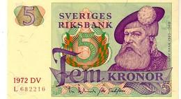 Sweden P.51  5  Kroner  1972 Unc - Sweden
