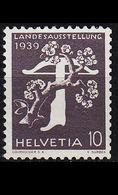 SCHWEIZ SWITZERLAND [1939] MiNr 0345 YII ( **/mnh ) - Svizzera