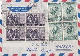 Aerogramma Diretto In Kenia Da Torino - 1951 - Quartine - 6. 1946-.. Repubblica