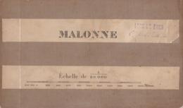 MALONNE WEPION BUZET FLAWINNE LESVES BOIS-DE-VILLERS En 1890 RARE - Cartes Géographiques