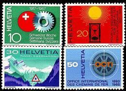 SCHWEIZ SWITZERLAND [1967] MiNr 0858-61 ( **/mnh ) - Unused Stamps