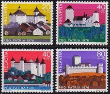 SCHWEIZ SWITZERLAND [1976] MiNr 1075-78 ( **/mnh ) Architektur - Unused Stamps