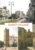 66 Canet Village Avenue Principale L'Eglise Avec Automobiles (2 Scans) - Canet En Roussillon