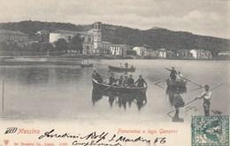 MESSINA-PANORAMA E LAGO GANZIRRI-CARTOLINA VIAGGIATA IL 22-6-1902 - Messina