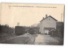 CPA 17 La Chapelle Des Pots La Gare Et Le Train Tramway De Saintes - France