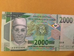 GUINEA NLP 2000 Francs 2018 Issued 2019 UNC - Guinea