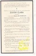 DP EZ Rosalia De Meersman - Zr. Clara ° Essene Affligem 1867 † Gasthuis Merchtem 1947 - Andachtsbilder