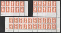 2620 1F. BRIAT ORANGE - 2 DEMI BAS De FEUILLES X 10  + 1 X 20 TD6 Sous Case 95- DATES  DIFFÉRENTES 91/92 - 1989-96 Marianna Del Bicentenario