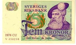 Sweden P.51  5  Kroner  1976 Unc - Sweden