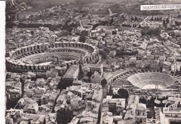 ARLES - Dépt 13 - Vue Aérienne : Les Arènes Et Le Théâtre Antique - Photo Véritable - Arles