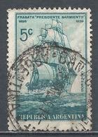 Argentina 1939. Scott #458 (U) Presidente Sarmiento, Ship ** - Argentinië