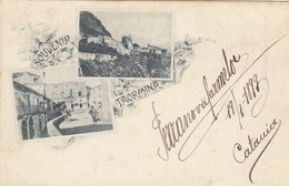 TAORMINA-MESSINA-SOUVENIR GRUSS AUS-CARTOLINA VIAGGIATA IL 19-1-1899 - Messina