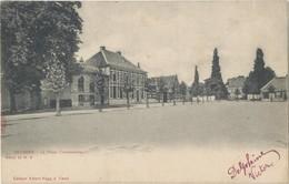 Postkaart CPA Heusden - Destelbergen. La Place Communale.Albert Sugg Kaart. - Destelbergen