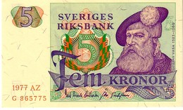 Sweden P.51  5  Kroner  1977 Unc - Svezia