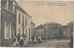 Postkaart CPA  Assenede De Statie En De Gendarmerie - La Gare Et La Gendarmerie. - Assenede