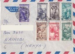 Aerogramma Diretto In Kenia Da Torino - 1951- Italia Lavoro - 6. 1946-.. Repubblica