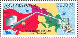 Azerbajan (Azerbaijan Azerbaïdjan) 2003.Baku - Tbilisi - Jeychan Oil Pipeline.. Mi# 547. MNH - Azerbaïdjan