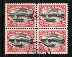BOLIVIA  Scott # 113 VF USED BLOCK Of 4 (Stamp Scan # 496) - Bolivia