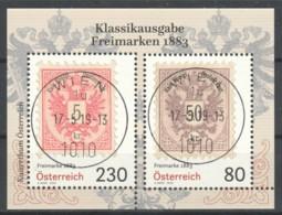 """Österreich: Block """"Freimarken 1883"""" Gestempelt (s.Foto) - 1945-.... 2. Republik"""