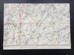 Topografische En Militaire Kaart STAFKAART 1906 Wavre Jodoigne Eghezee Gembloux Chastre Perwez Bierges Ottignies Tilly - Cartes Topographiques