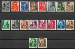 UNGHERIA  1943 SERIE ORDINARIA YVERT. 612-628B MLH VF NON COMPLETA MANCA IL N° 628 B - Ungheria