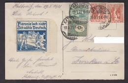 Tolle AK Kattowitz Grundmannstr. 1921, Tolle Rückseite !!! Pieronie Lach Nicht ... - Polen