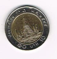 & THAILAND 10 BAHT  2002 ( 2545 ) - Thaïlande