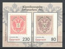 """Österreich:  Block """"Freimarken 1883"""" Postfrisch (s.Foto) - 1945-.... 2ème République"""