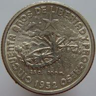 Cuba 10 Centavos 1952 UNC / BU - Silver - Cuba