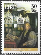 IRELAND 2001 Literary Anniversaries - 30p Archbishop Narcissus Marsh & Library Interior (300th Anniv) MNG - 1949-... République D'Irlande