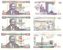 Kenya - Set 5 Banknotes 50 100 200 500 1000 Shillings 2010 AUNC / UNC Lemberg-Zp - Kenya