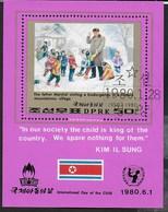 COREA DEL NORD - 30°  GIORNATA DEL BAMBINO - FOGLIETTO USATO ( YVERT BF 27 - MICHEL  BL 69) - Corea Del Nord