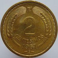 Chile 2 Centesimos 1967 UNC / BU - Chile