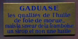 """GLACOÏDE De PHARMACIE : """" GADUASE - HUILE DE FOIE DE MORUE """" - Plaques Publicitaires"""