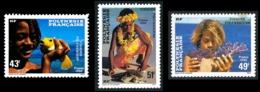 POLYNESIE 1986 - Yv. 249 250 251 **   Faciale= 1,20 EUR - Polynésiens Et Faune Marine (3 Val.)  ..Réf.POL23947 - Polynésie Française