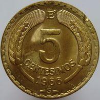 Chile 5 Centesimos 1966 UNC / BU - Chile