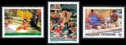POLYNESIE 1986 - Yv. 263 264 265 **    - Folklore (3 Val.)  ..Réf.POL23956 - Polynésie Française