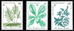 POLYNESIE 1986 - Yv. 268 269 270 ** SUP  Faciale= 1,18 EUR - Plantes Médicinales (3 Val.)  ..Réf.POL23959 - Polynésie Française