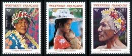 POLYNESIE 1987 - Yv. 272 273 274 **   Faciale= 0,80 EUR - Visages Polynésiens (3 Val.)  ..Réf.POL23962 - Polynésie Française