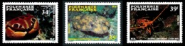 POLYNESIE 1987 - Yv. 275 276 277 **   Faciale= 0,91 EUR - Crustacés (3 Val.)  ..Réf.POL23963 - Polynésie Française