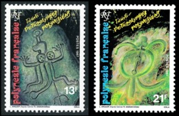 POLYNESIE 1987 - Yv. 280 Et 281 **    - Pétroglyphes Polynésiens  (2 Val.)  ..Réf.POL23965 - Polynésie Française